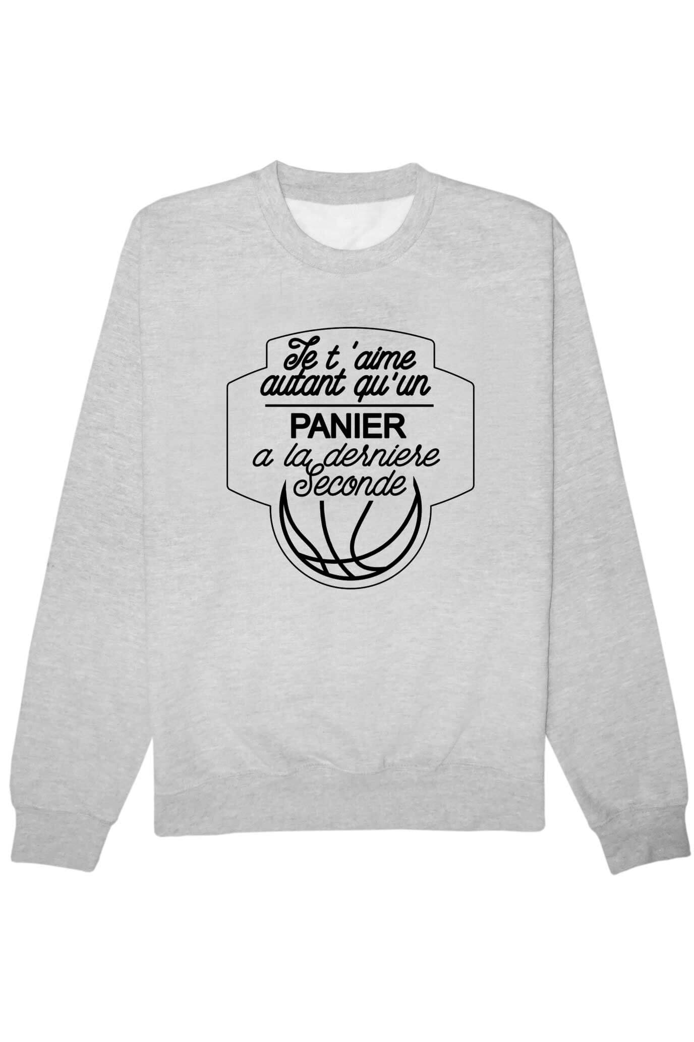 Assez Je t'aime autant vs basket (blanc) Sweat – Tshirtdef SY93