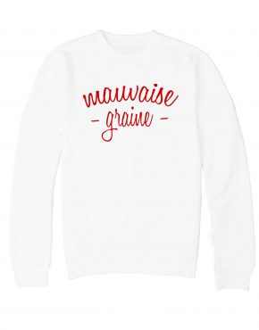 mauvaise-graine-sweat-blanc