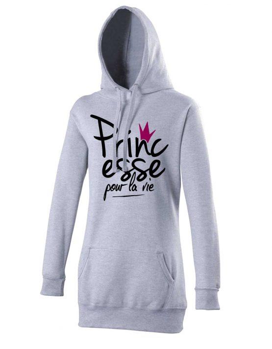princesse-pour-la-vie-hoodie-gris