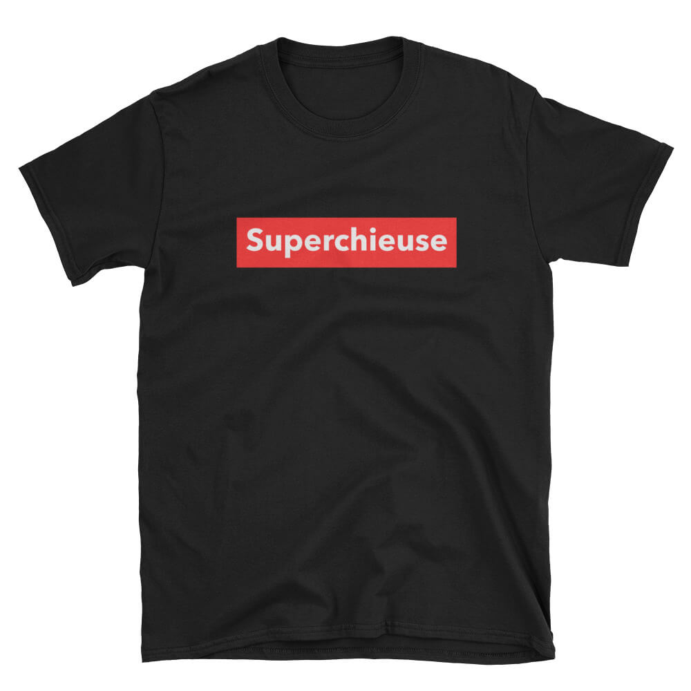 e4da8d7fecd T-Shirt noir femme Super Chieuse – Tshirtdef